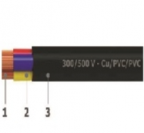 PVC insulated 4 cores flexible wires