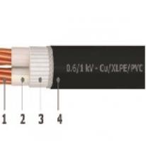 0.6/1 kV unarmoured 2 cores cables - Cu/XLPE/PVC
