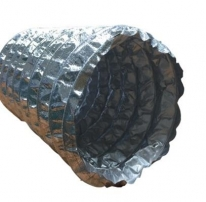 Flexible without insulation aluminium with fiber glass cloth