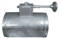 Round Volume Control Damper ( Using worm wheel switch )