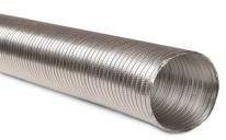 Aluminum flexible duct stiff wind