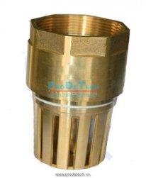 Brass foot valve